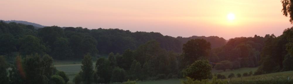 Solnedgång över Söderåsen